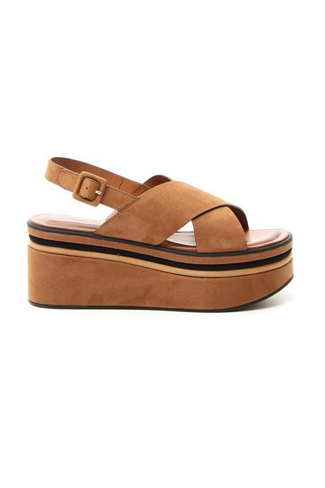 Suede platform sandals Intrend