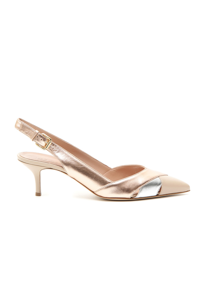 Laminated leather slingback Intrend
