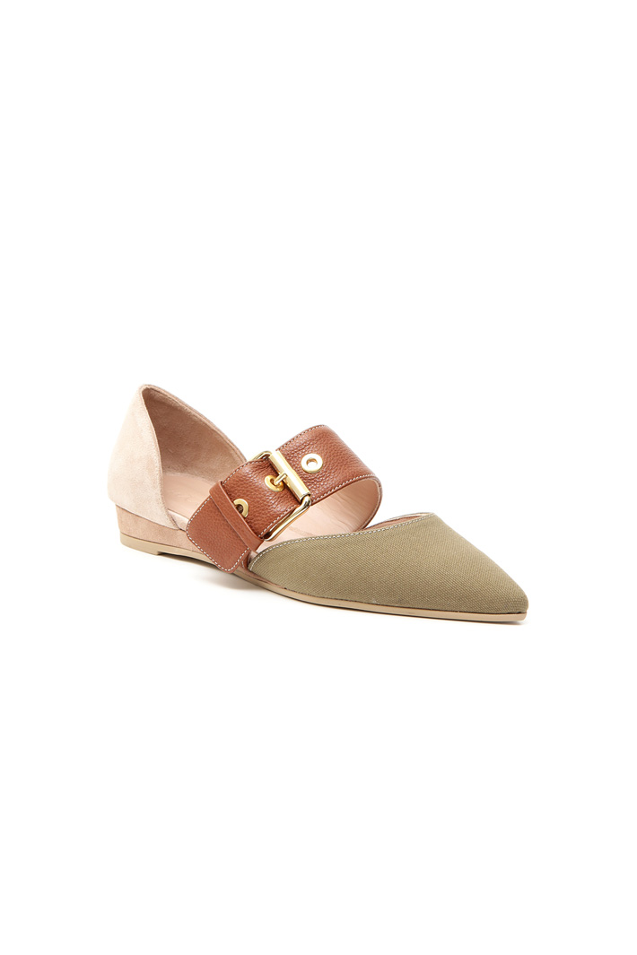 Flat leather shoe Intrend