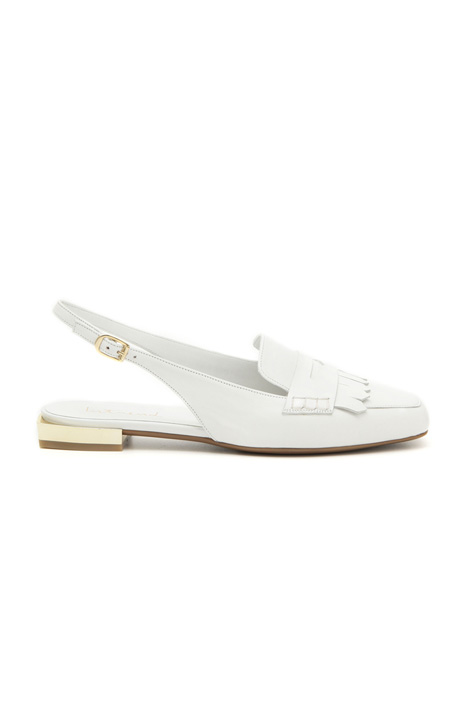 Mocassino slingback in pelle Intrend