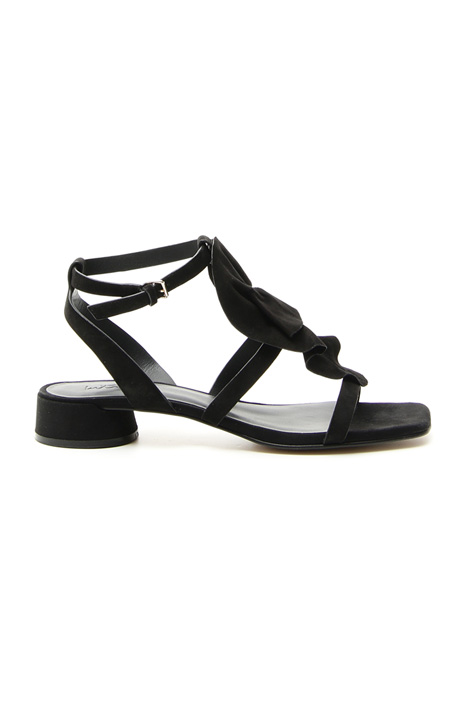Suede sandal with ruffles  Intrend