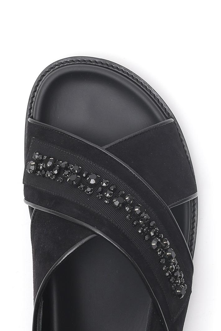 Sandalo con ricamo gioiello Intrend
