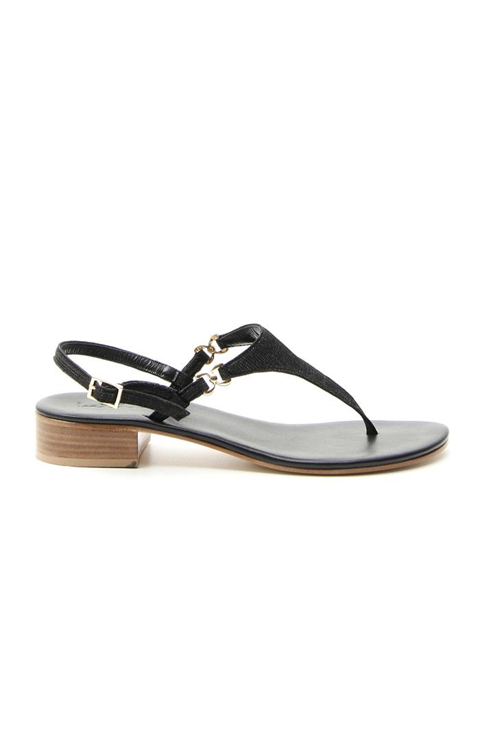 Lurex fabric sandal Intrend