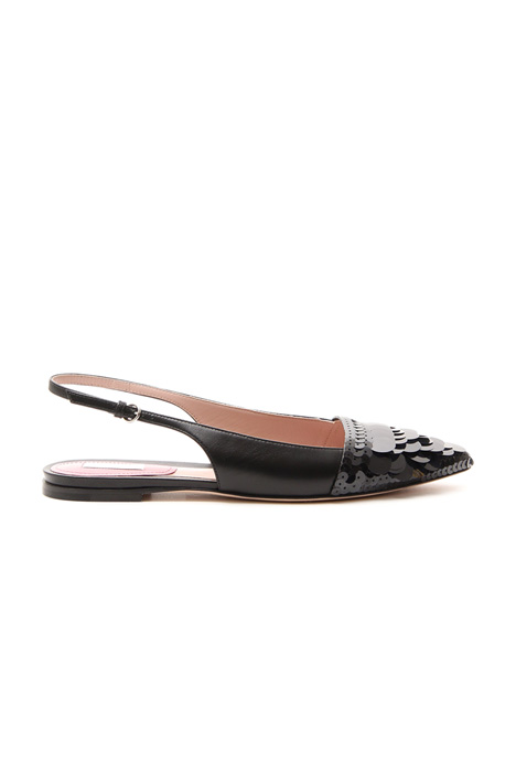 Sling back leather ballerinas Intrend