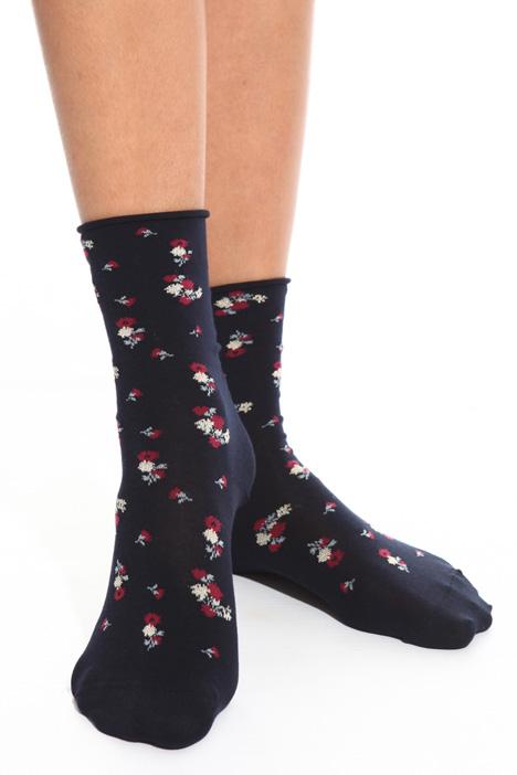 Floral motif socks Intrend