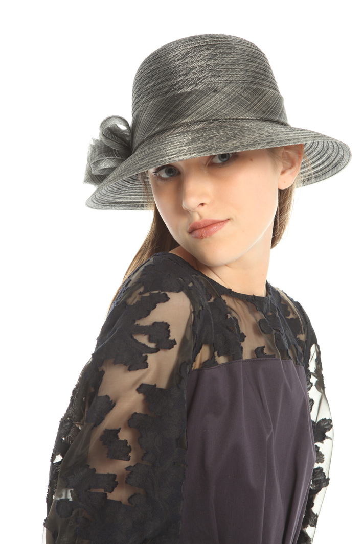 Bow organza hat Intrend