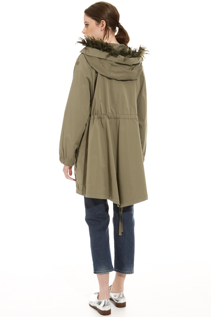 Feather detail parka Intrend