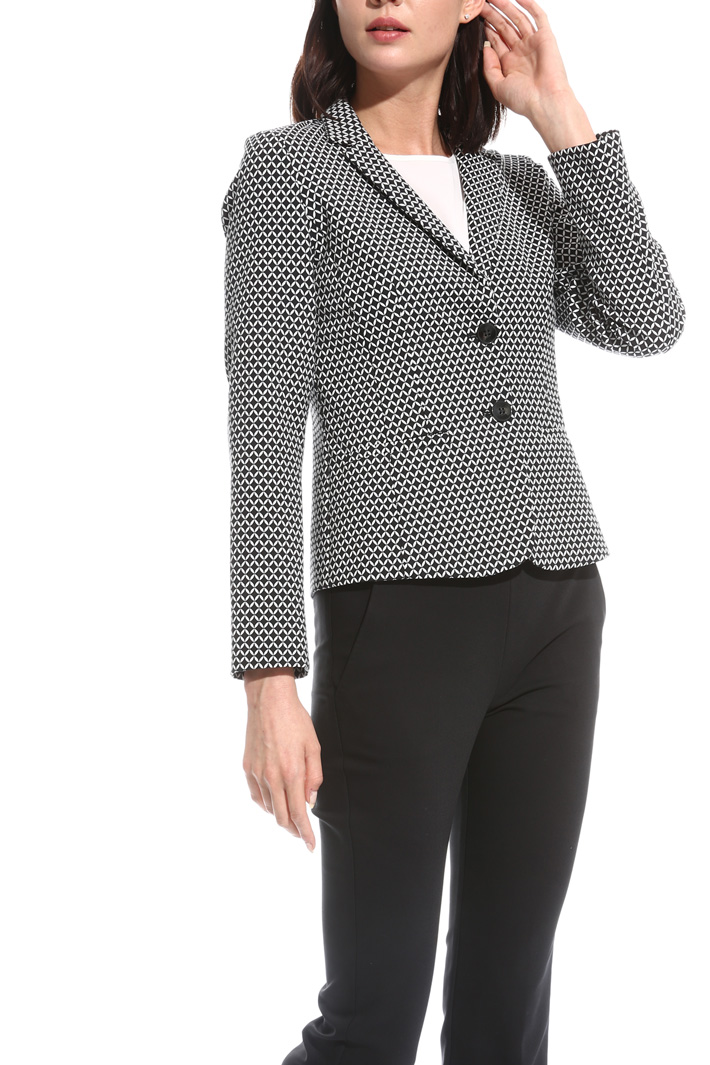 Blazer in jacquard stretch Intrend