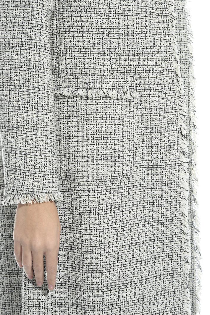 Interwoven lurex duster coat Intrend