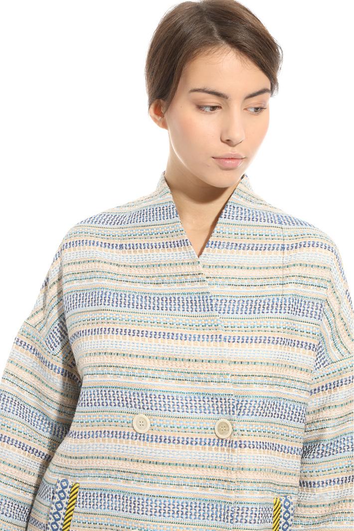 Interwoven fabric topcoat Intrend