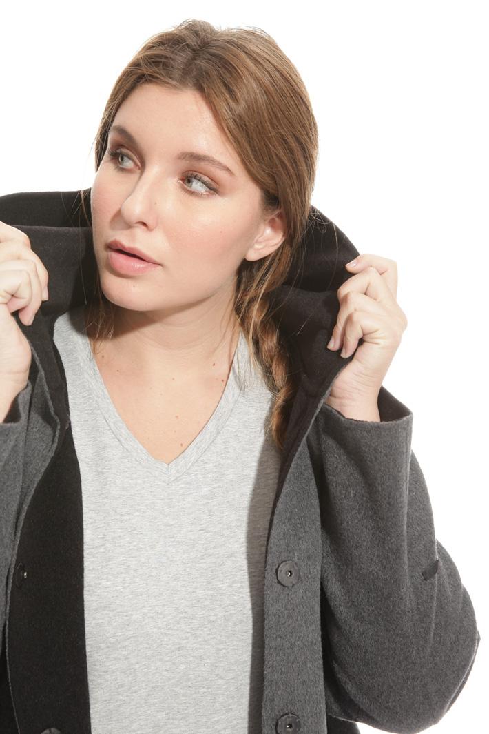 Cappotto con cappuccio in lana Intrend
