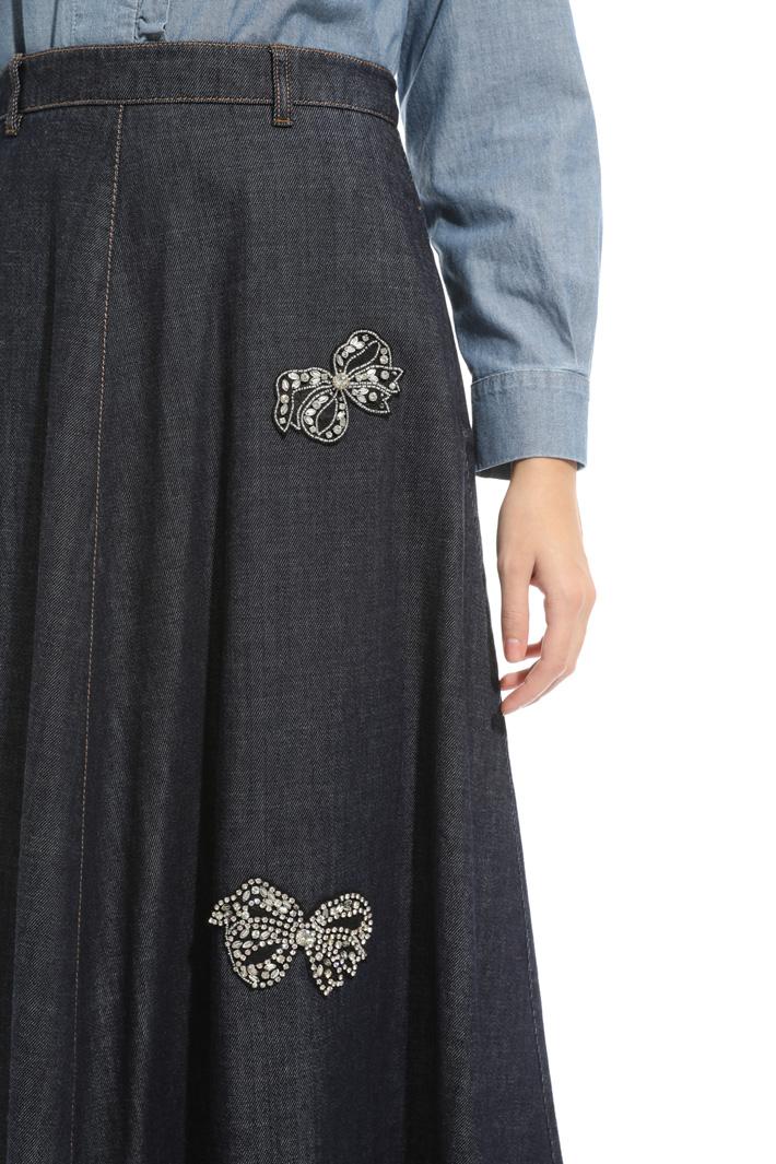 Embroidered denim skirt Intrend