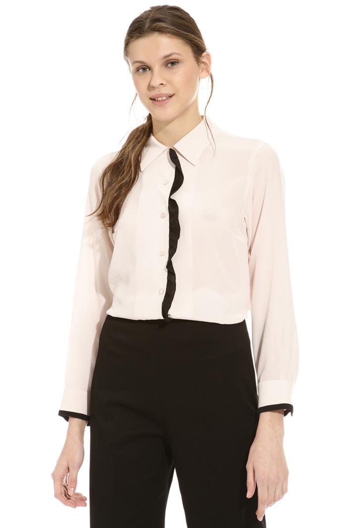 Frilled silk shirt Intrend