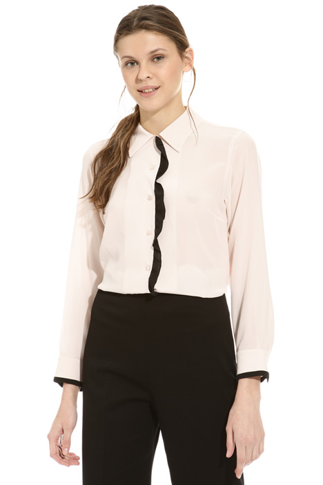 Camicia in seta con ruches Intrend