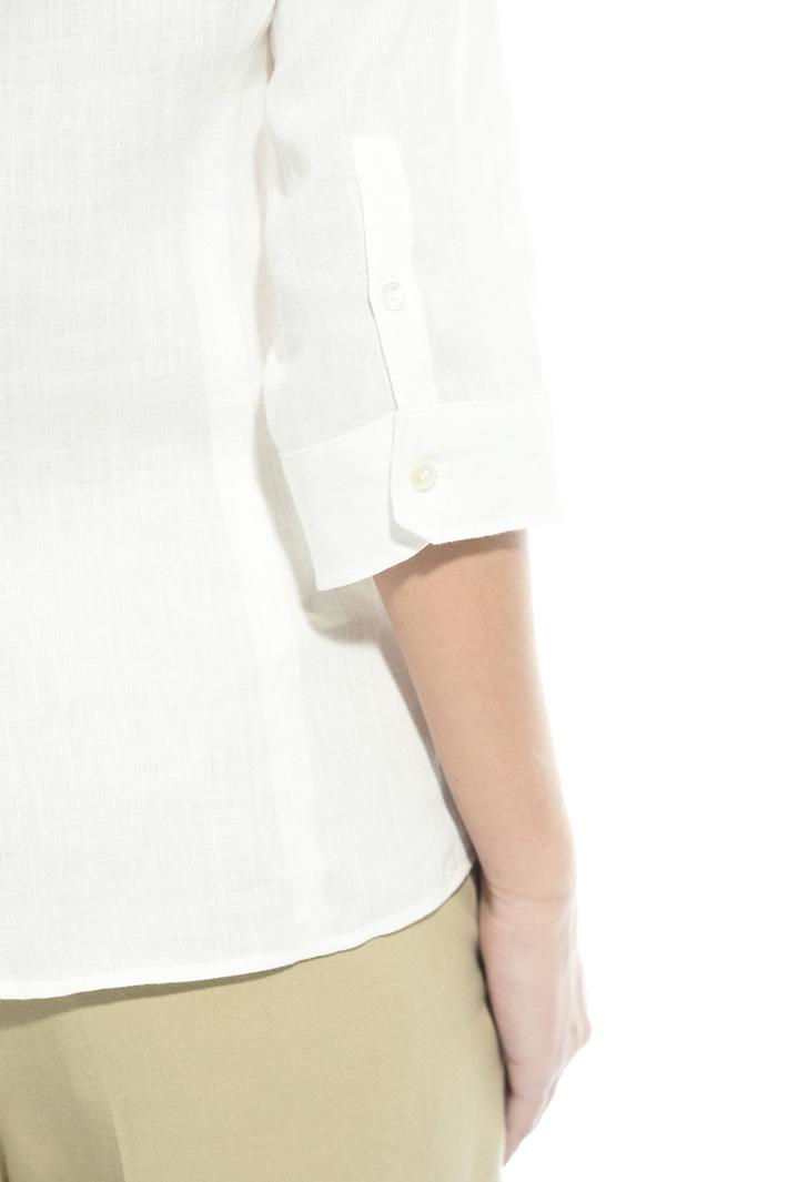 Camicia in lino con taschini Intrend