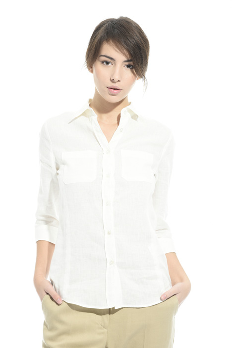 Camicia in lino con taschini Intrend