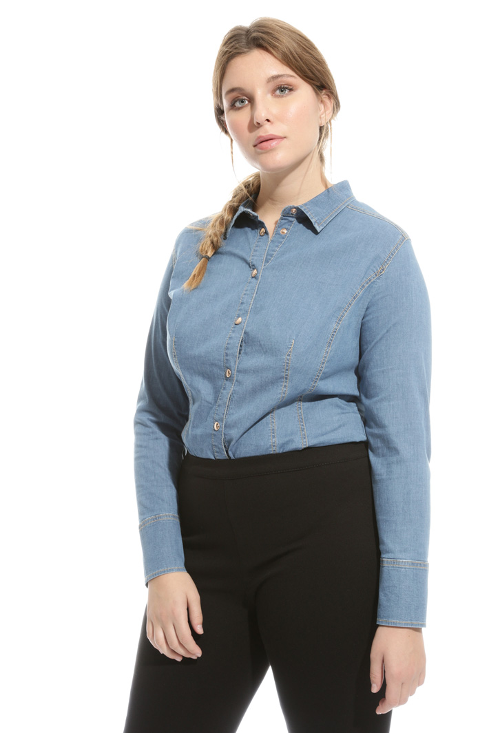 Camicia body in denim Intrend