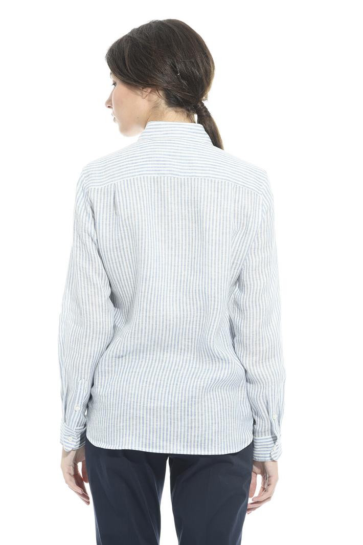 Camicia in lino tinto in filo Intrend