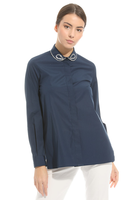 Camicia con colletto ricamato Intrend
