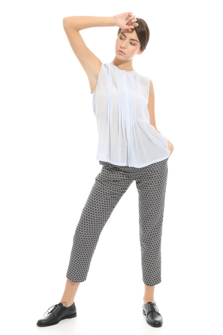 Pantalone in jacquard lamè Intrend