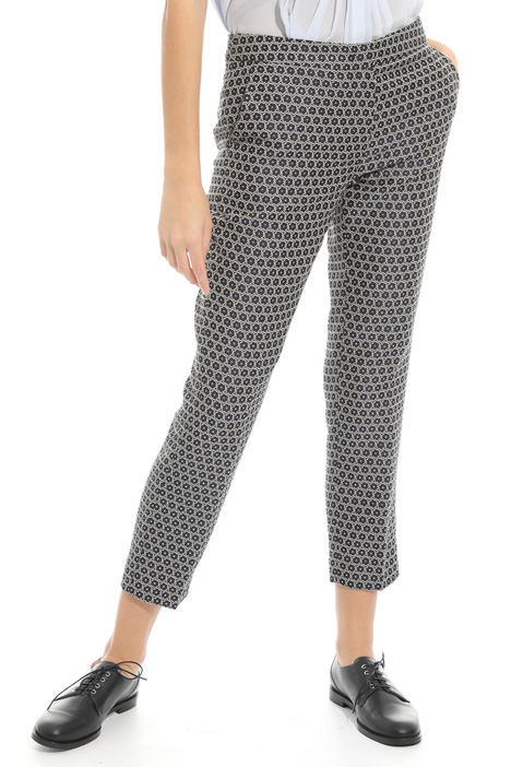 Lamé jacquard trousers  Intrend