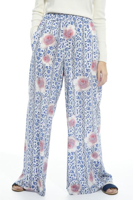 Pantalone a palazzo in seta Intrend