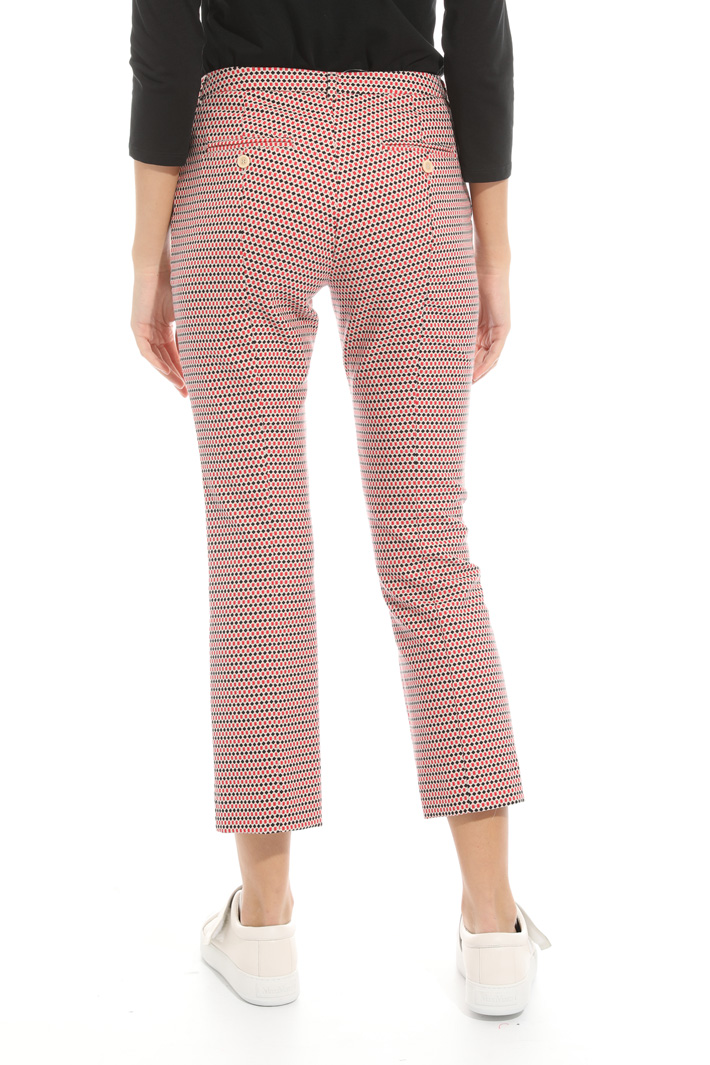 Micro pattern trousers Intrend