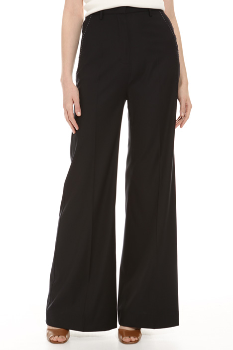 Wool blend palazzo trousers  Intrend