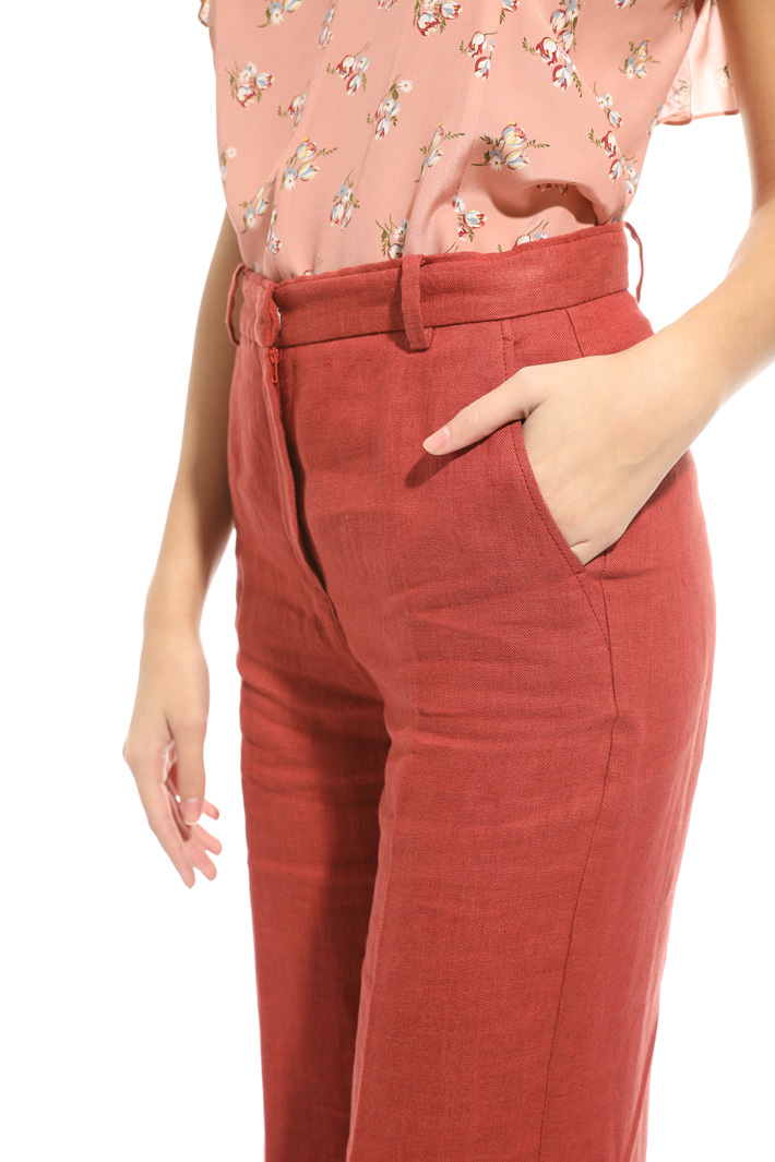 Pantalone in lino Intrend