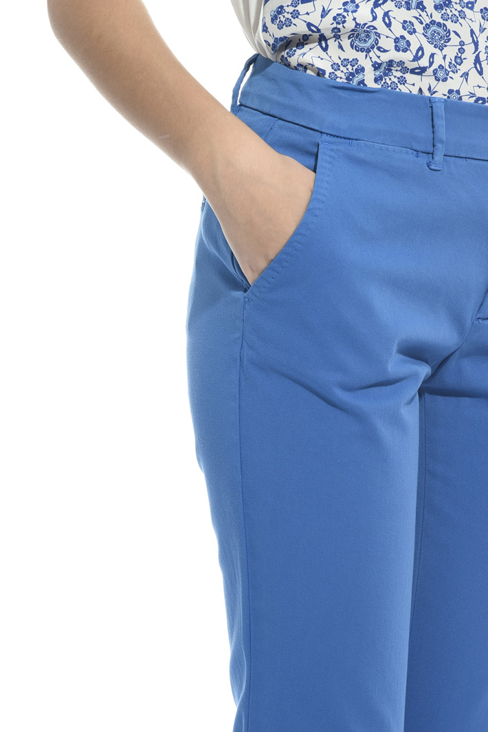 Cotton cigarette trousers Intrend