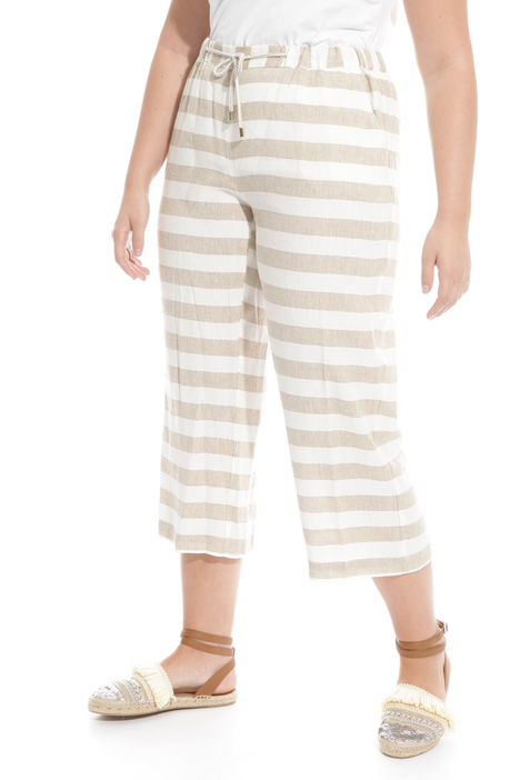 Linen and viscose trousers Intrend