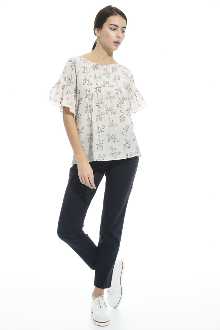 Printed silk blouse Intrend