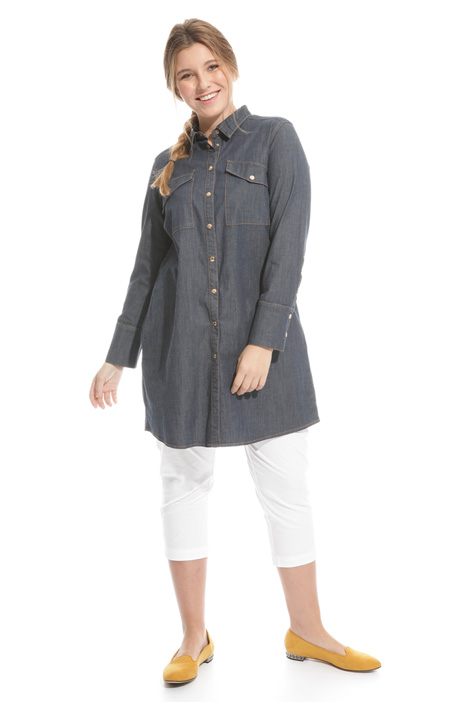 Camicia lunga in denim Intrend