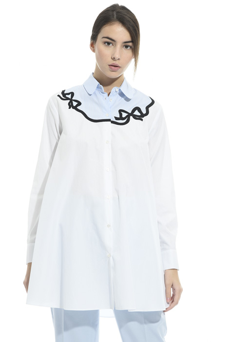 Oversized embroidered shirt  Intrend