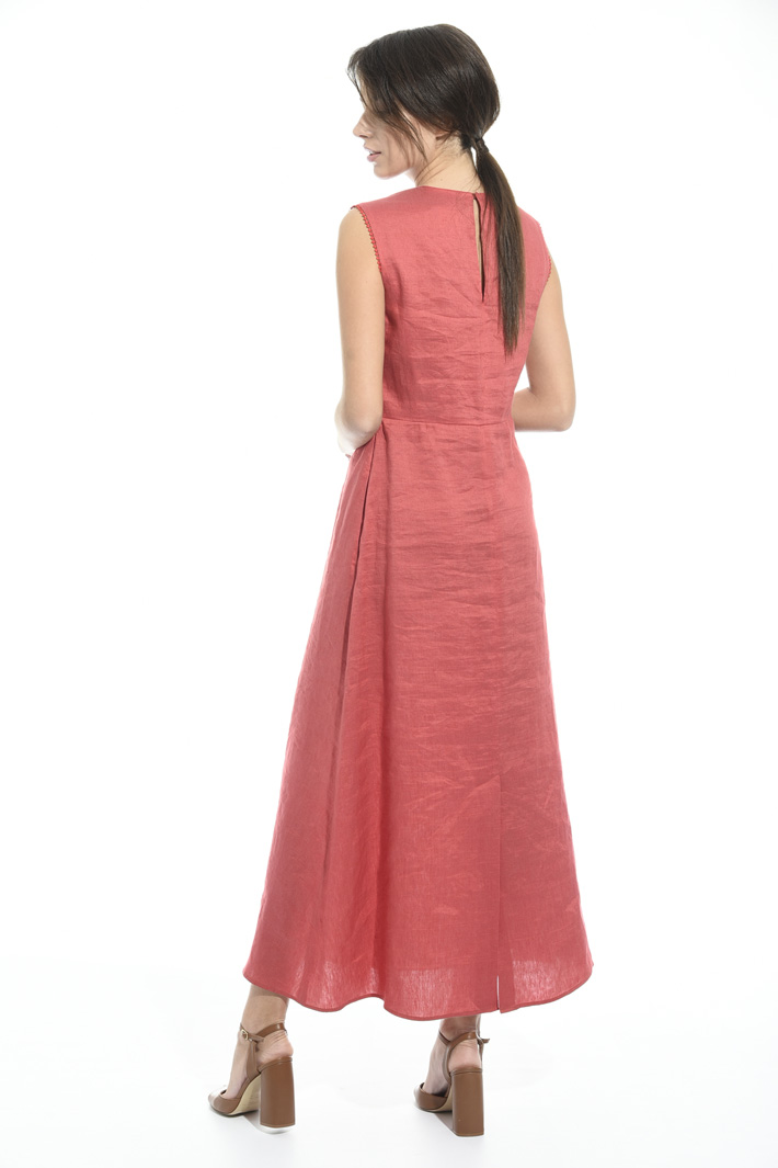 Linen and silk satin dress Intrend