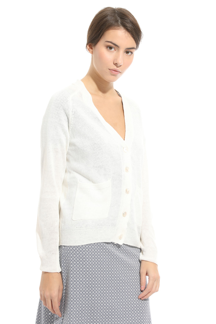 Linen knitted cardigan Intrend