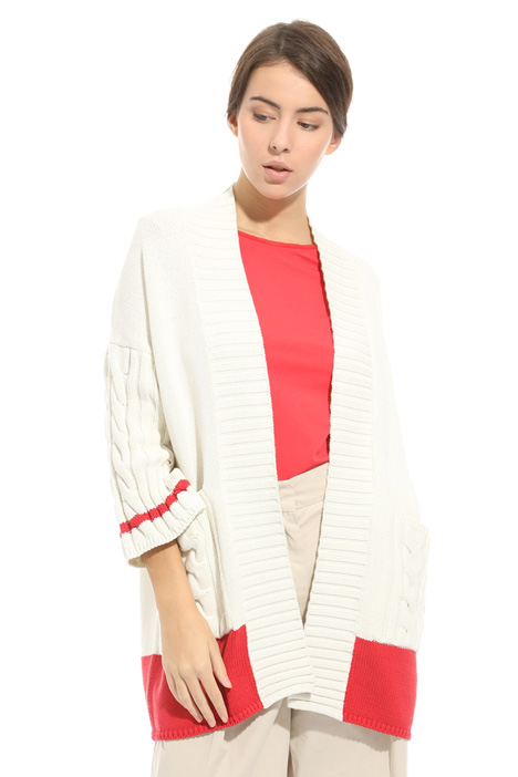 Knitted stitched cardigan Intrend