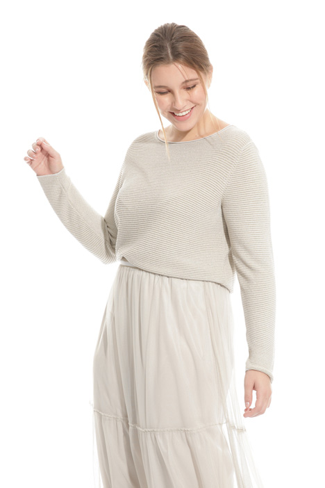 Lamé yarn sweater  Intrend