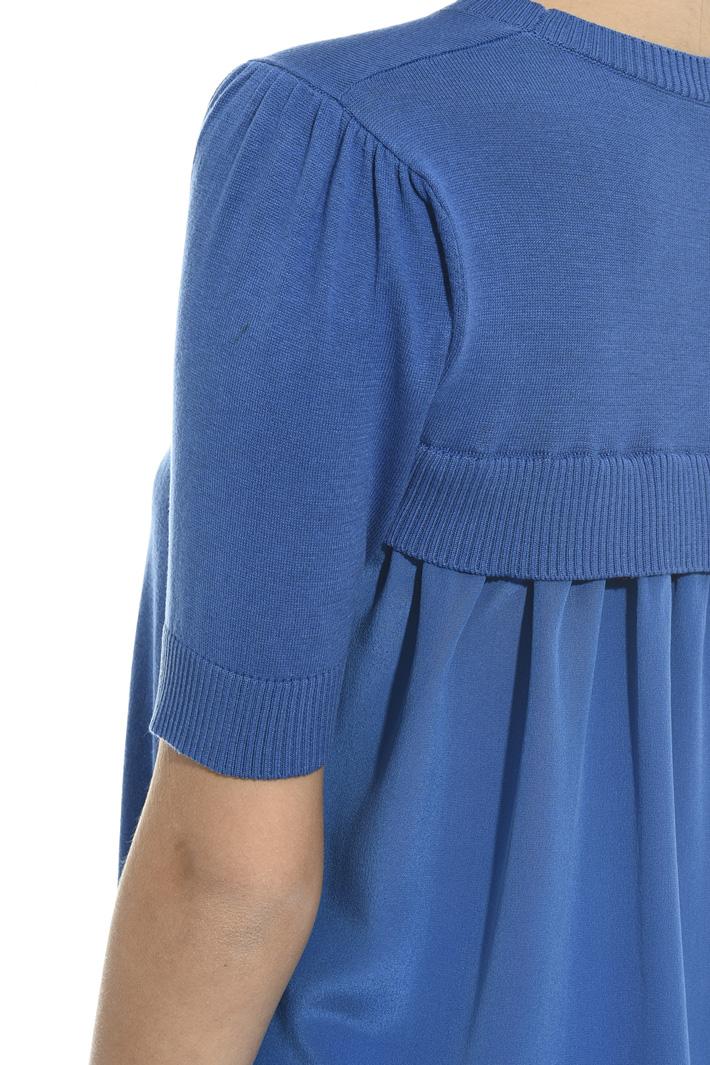 Silk panel sweater Intrend