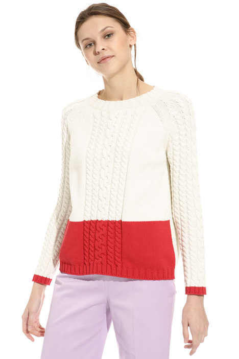 Braid knit sweater Intrend