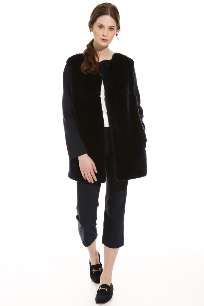 Wool and lapin coat Intrend