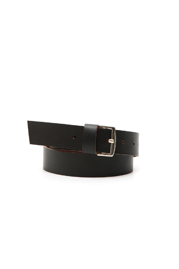 Matt-effect leather belt Intrend