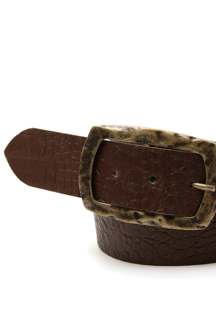 Crocodile leather belt Intrend