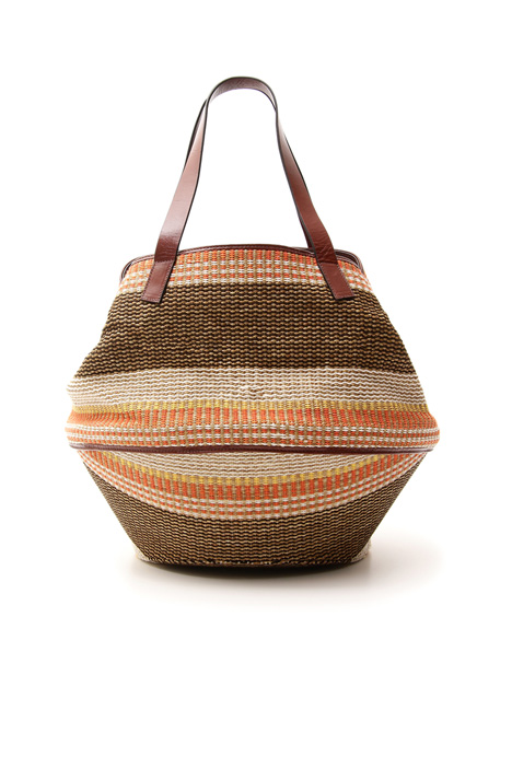Basket bag in fabric Intrend