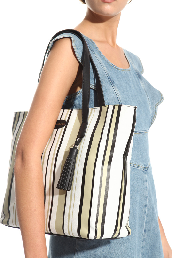 Canvas shopper bag Intrend