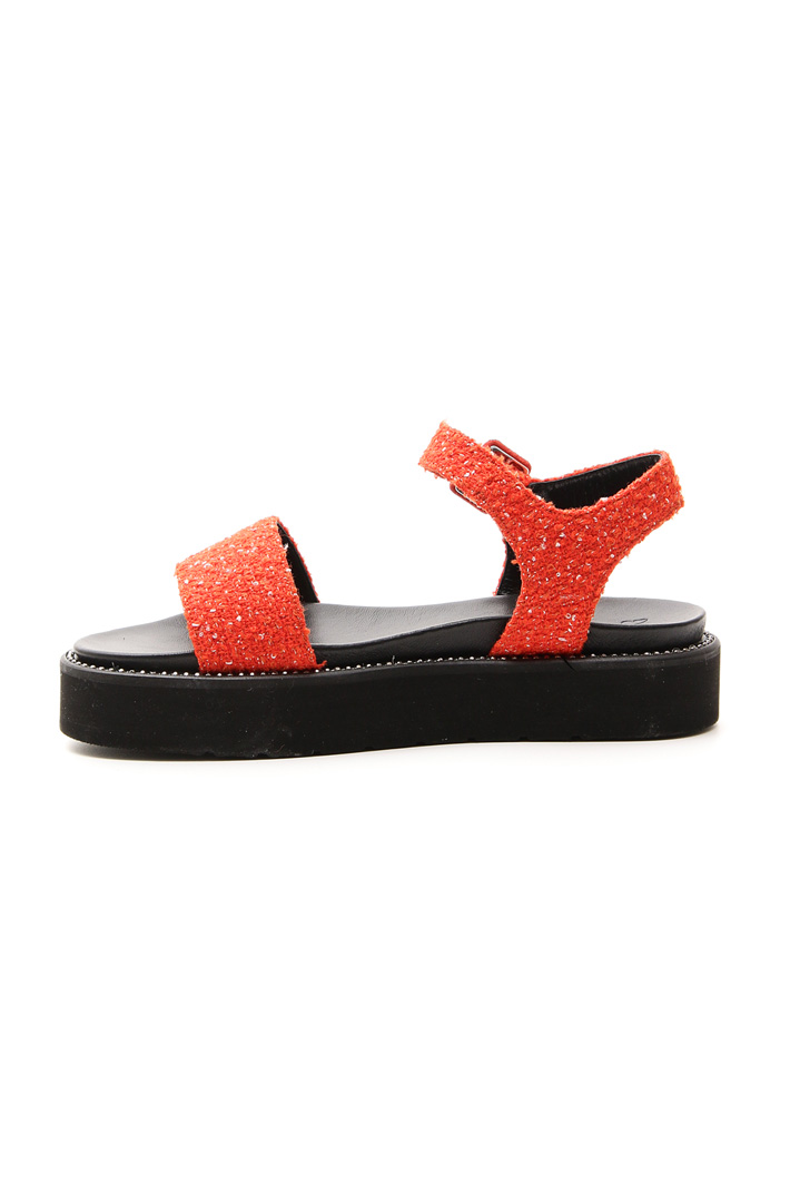 Sandalo platform in tessuto Intrend
