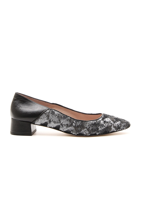 Sequin ballerina with heel  Intrend
