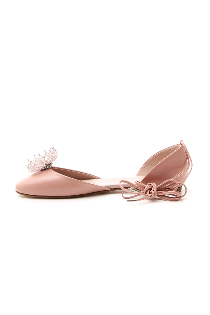 Ballerina in pelle liscia Intrend