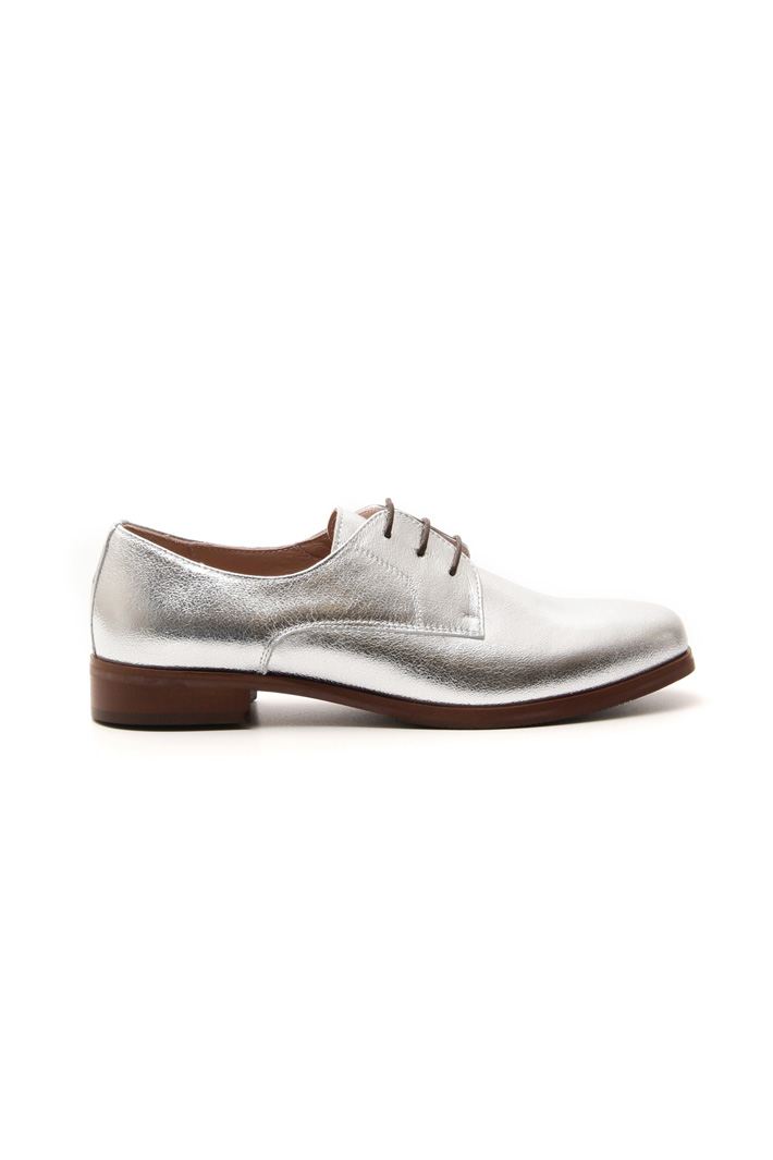 Laminated leather lace up Intrend