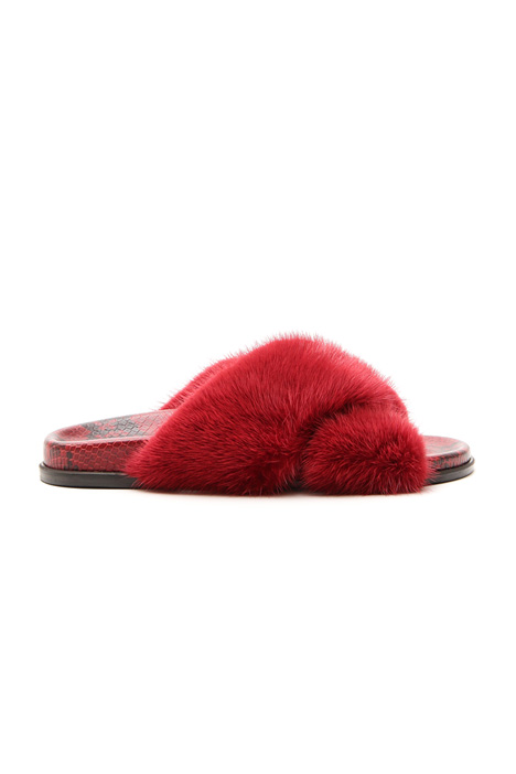 Mink leather slipper Intrend
